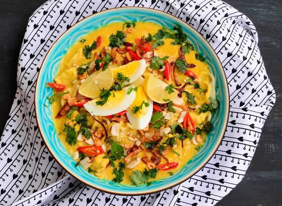 Khow suey - рецепт лапши с курицей по-бирмански