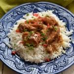 Курица в гранатовом соку по-персидски