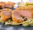 Хрустящие свиные отбивные с салатом из фенхеля