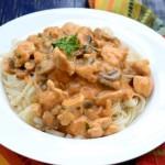 Куриный строганов с грибами — рецепт с фото