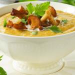 Суп пюре с грибами