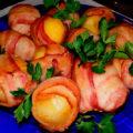 Отварной картофель запеченный с беконом