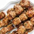 Шашлык из курицы и говядины по-турецки