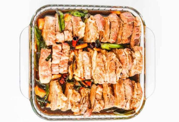 Запеченное сало по-китайски