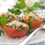Запеченные помидоры с начинкой
