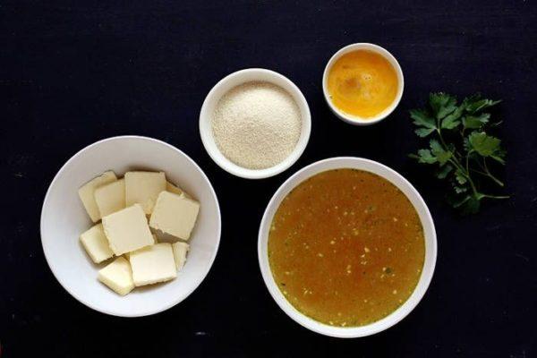 Суп с клёцками из семолины - манной муки