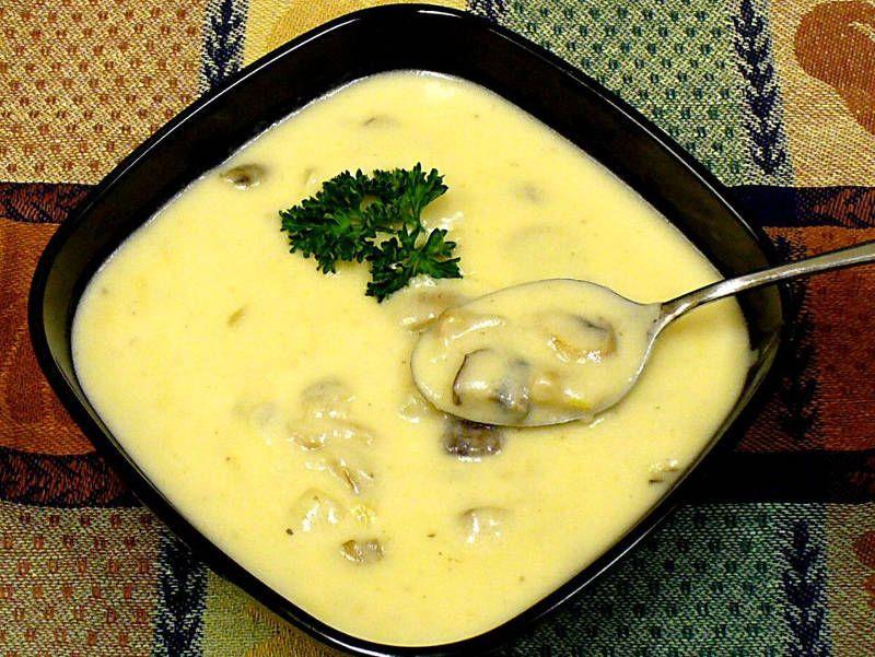 Грибной суп пюре с сыром Чеддер