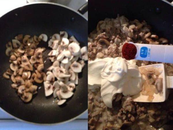 Простой и быстрый бефстроганов из говядины с грибами