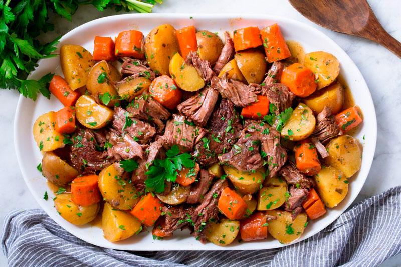 Тушеное мясо с овощами по-осеннему (1)