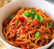Быстрый рецепт спагетти с мясным соусом