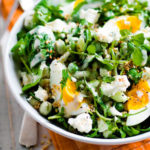 Весенний салат из щавеля и черемши (чеснока)
