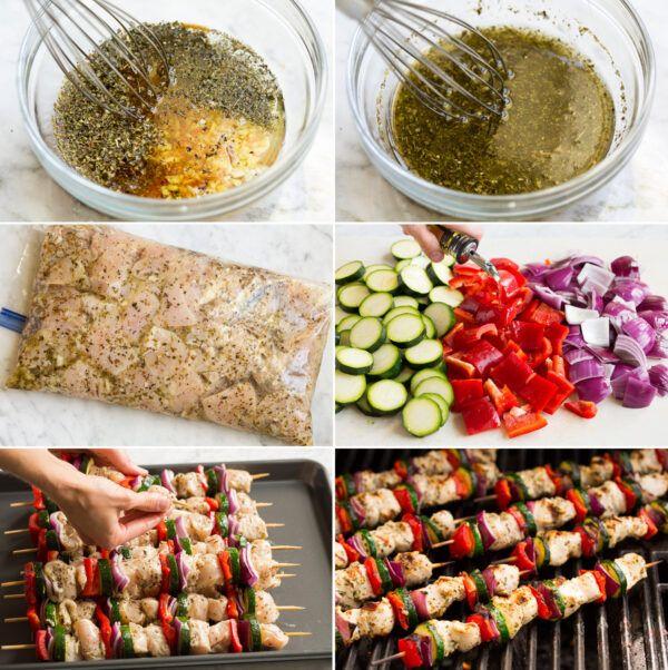 Как приготовит греческий шашлык из курицы
