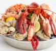 ПП морепродукты, запеченные с чесноком и адыгейским сыром